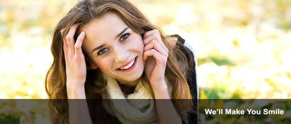 We'll Make You Smile | Young woman smiling